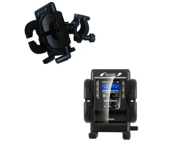 Handlebar Holder compatible with the Insignia NS-HD01 Portable HD Radio Player