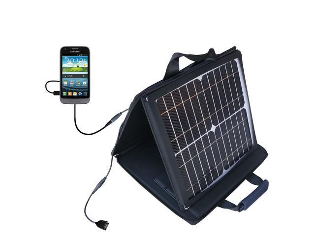 SunVolt MAX Solar Charger compatible with the Samsung 4G LTE and one other device&#59; charge from sun at wall outlet-like speed