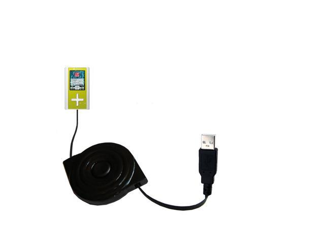 Retractable USB Power Port Ready charger cable designed for the Toshiba Gigabeat F10 MEGF10 and uses TipExchange