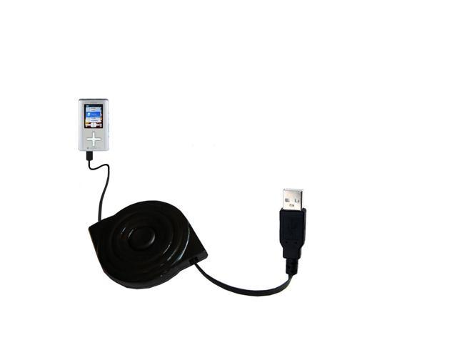Retractable USB Power Port Ready charger cable designed for the Toshiba Gigabeat T401 and uses TipExchange