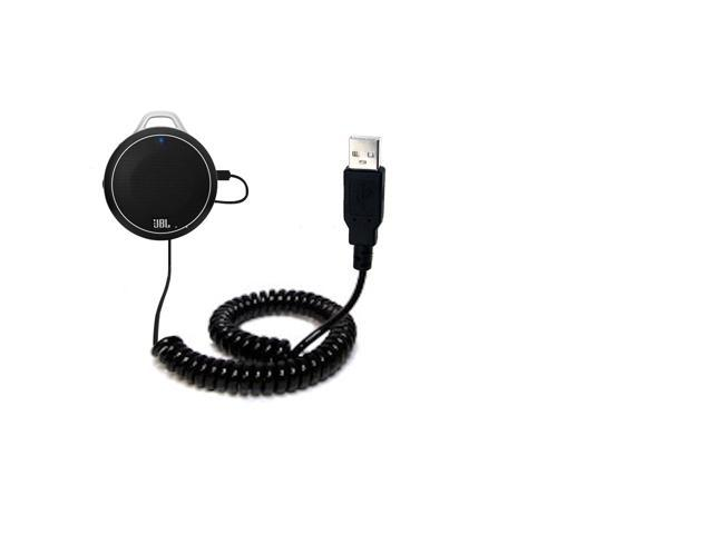 Coiled USB Cable compatible with the JBL Charge Micro