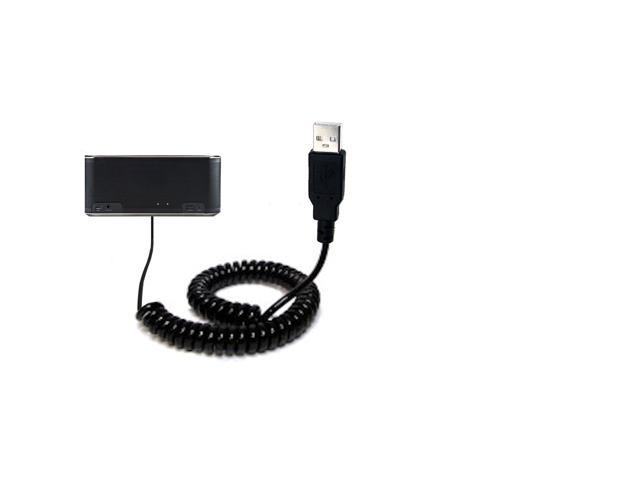 Coiled USB Cable compatible with the Monster ClarityHD Micro