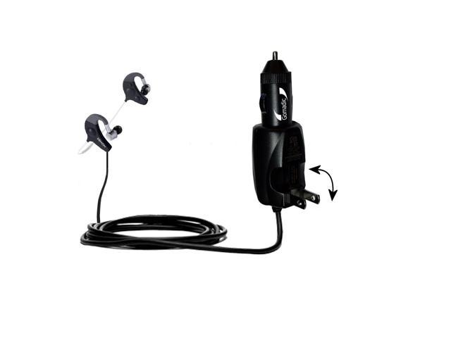 Car & Home 2 in 1 Charger compatible with the Denon AH-W150 Exercise Freak