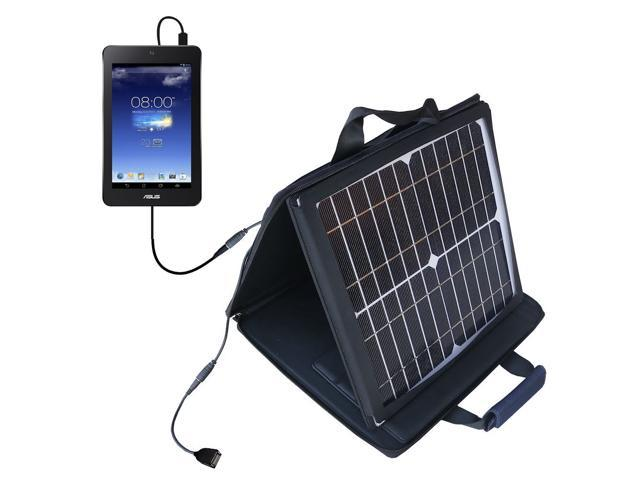 SunVolt MAX Solar Charger compatible with the Asus MeMO Pad HD7 and one other device; charge from sun at wall outlet-like speed