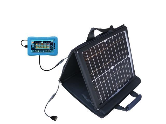 SunVolt Solar Charger compatible with the KD Interactive Kurio 10S and one other device - charge from sun at wall outlet-like sp