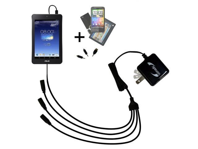 Quad output Wall Charger includes tip for the Asus MeMO Pad HD7