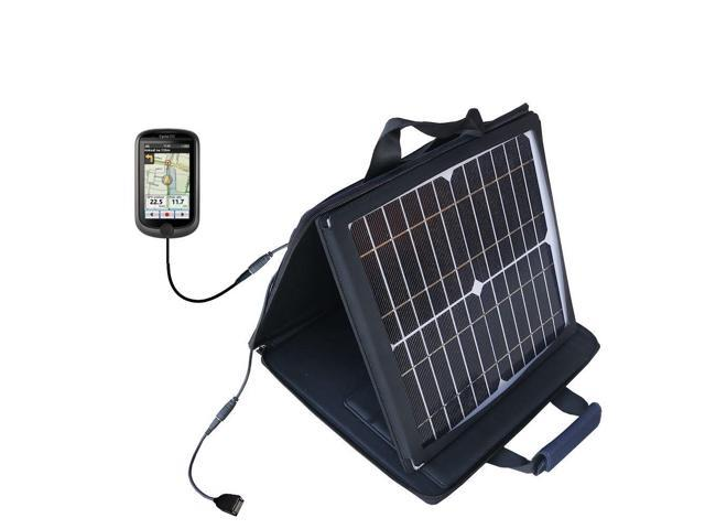 SunVolt Solar Charger compatible with the Mio Cyclo 310 / 315 and one other device - charge from sun at wall outlet-like speed