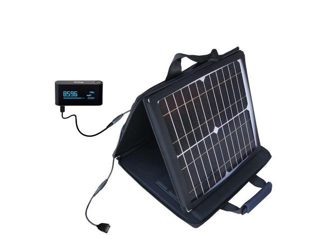 SunVolt Solar Charger compatible with the Withings Pulse and one other device - charge from sun at wall outlet-like speed