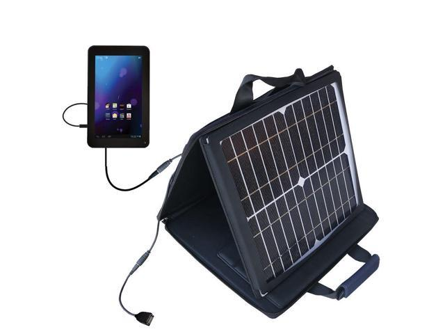 SunVolt Solar Charger compatible with the RCA RCT6077W2 / RCT6077W22 and one other device - charge from sun at wall outlet-like