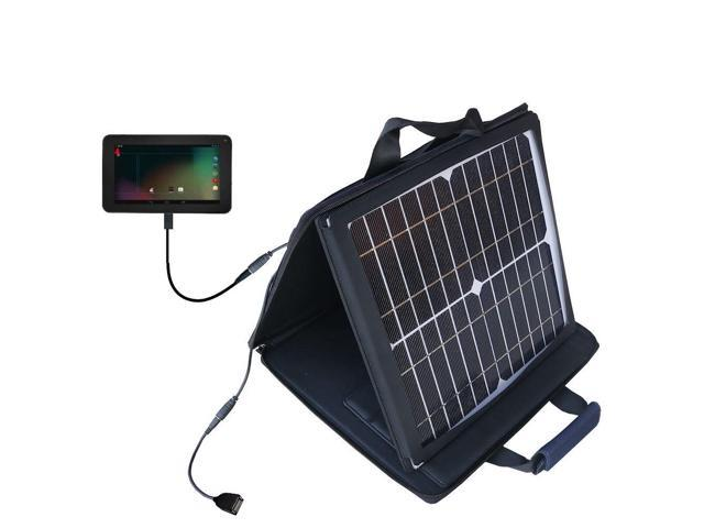 SunVolt Solar Charger compatible with the RCA RCT6272W23 and one other device - charge from sun at wall outlet-like speed