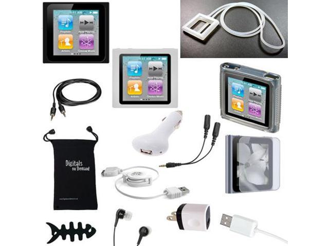 Apple iPod Nano 6th Gen Case - DigitalsOnDemand ® 14-Item Accessory Bundle for Apple iPod Nano 6th Generation - Slim Case ...
