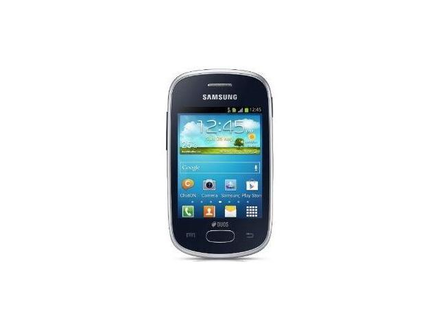 Samsung Galaxy Star Duos GT-S5282 Android Unlocked Quad Band GPS WiFi Phone (Black)