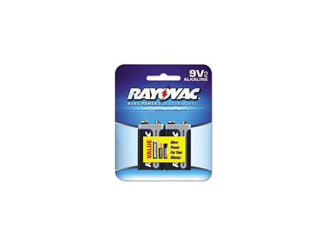 Alkaline Batteries 9V 2/Pack Recloseable Pkg