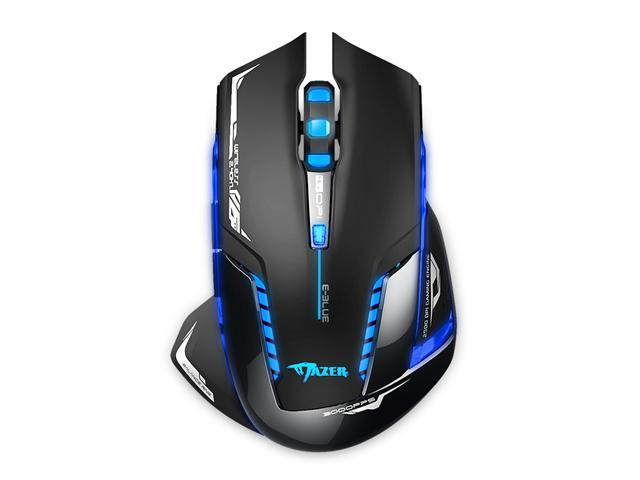 E-Blue Mazer II Wireless Optical Pro Gaming Mouse - AVAGO chip, 2500 DPI, Blue LED, 2.4GHz