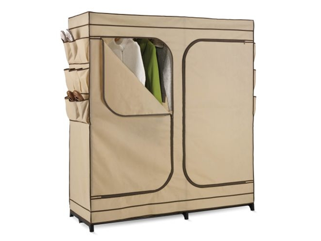 Honey Can Do 60In Double Door Storage Closet With Shoe Organizer - WRD-01272