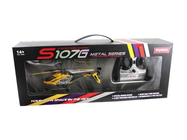"Syma S107G Mini Metal 8"" RC Helicopter w/ Gyro - Yellow"