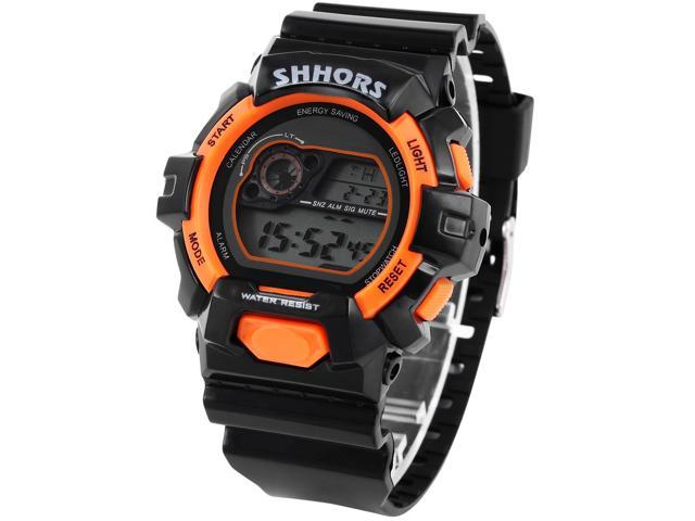 Timebear Men's LCD Day Date Stopwatch Waterproof Outdoor Sport Rubber Watch