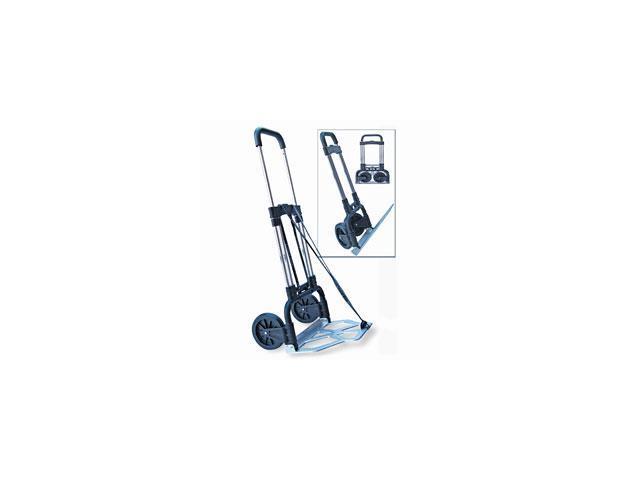 Portable Slide-Flat Cart, 275lbs, 18 3/4 x 19 x 40, Black/Chrome