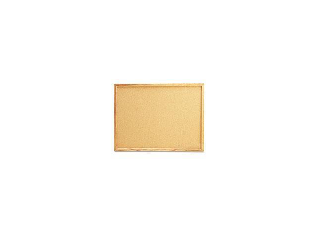 Cork Bulletin Board, 24 x 18, Natural, Oak Frame