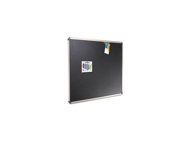 Euro-Style Bulletin Board, High-Density Foam, 48 x 36, Black/Aluminum Frame