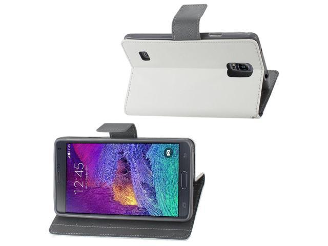 Reiko Free Stand Wallet Case For Samsung Galaxy Note 4 N910V/N910P/N910T/N910R4