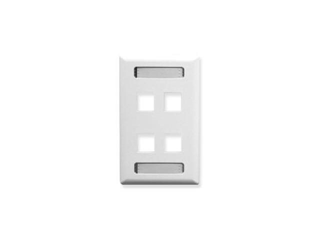 Icc ICC-IC107S04WH FACEPLATE, ID, 1-GANG, 4-PORT, WHITE