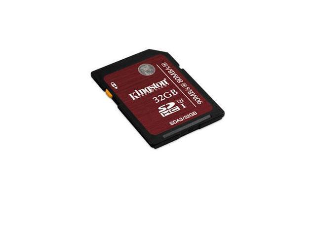 Kingston Digital 32GB SDHC UHS-I Speed Class 3 Flash Card (SDA3/32GB)