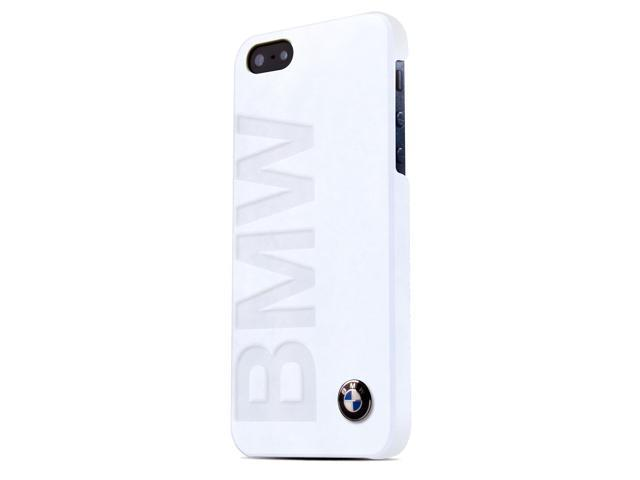 CG Mobile BMW iPhone 5 / 5S White Leather Embossed BMW Logo Case BMHCP5LOW
