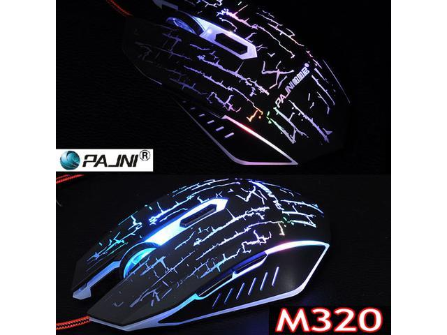 2400DPI 6D PAJNI M320 Computer Gaming Optical Mouse FOR MMO WOW RAZER FPS LOL DOTA