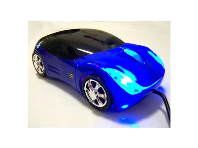 2014 Blue Top Racing Sport Ferrari Car Shape Optical Mouse Mice with Headlight Cool Look Amazing 7 Colors available