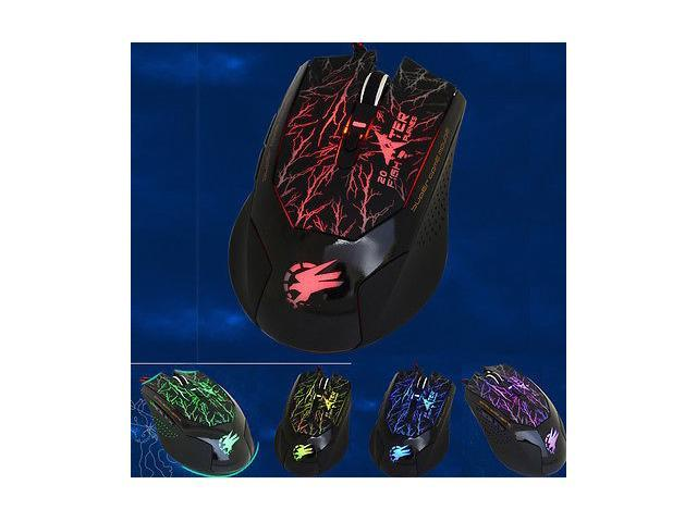 NEW 8D 2000DPI SOUA Fighter-20 Molten Gaming Mouse 6 Buttons MMO WOW RAZER CS