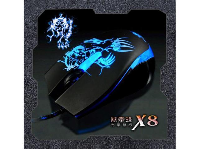 7D 2400DPI SUNT X8 Usb Optical PC Gaming Mouse 6 Buttons for CS CF WOW RAZER FPS