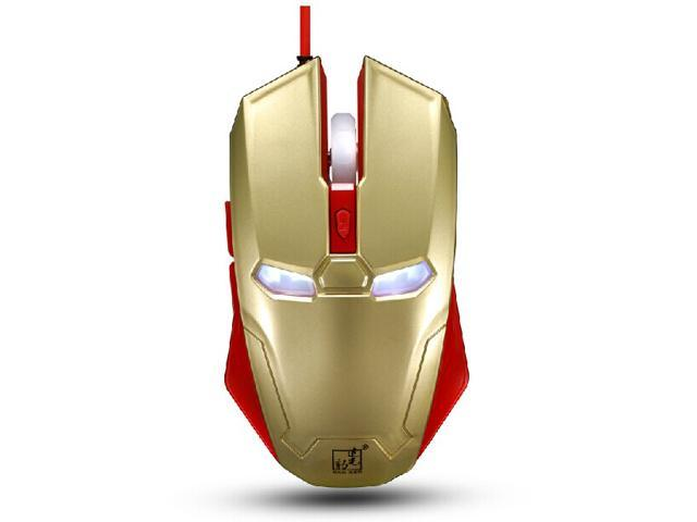 8D 2400DPI Spotlight Leopard Iron Man S3 6 Buttons X3 Usb Gaming Mouse - Ergonomic Hybrid Design -Ultrafast Response -High-End Precise Positioning