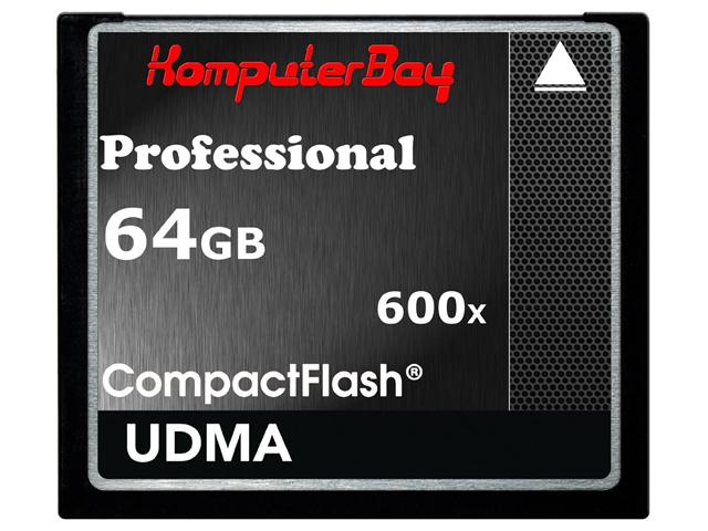KOMPUTERBAY 64GB Professional COMPACT FLASH CARD CF 600X 90MB/s Extreme Speed UDMA 6 RAW 64 GB - OEM