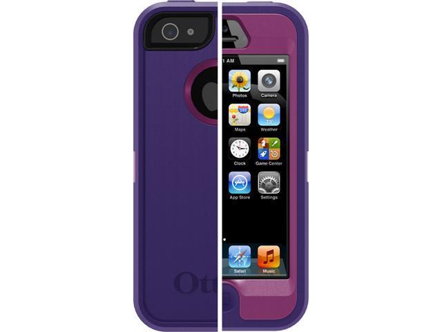 OtterBox Defender Series Case for Apple iPhone 5 (Pop Purple/Violet Purple)