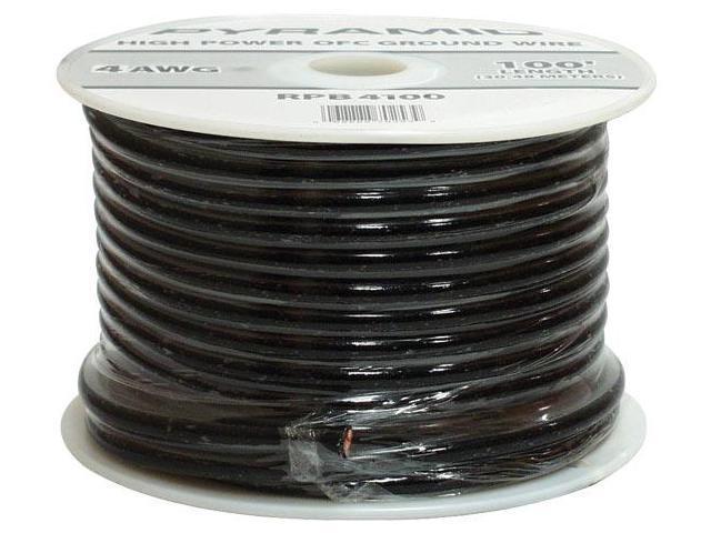 4 Gauge Black Ground Wire 100 ft. OFC