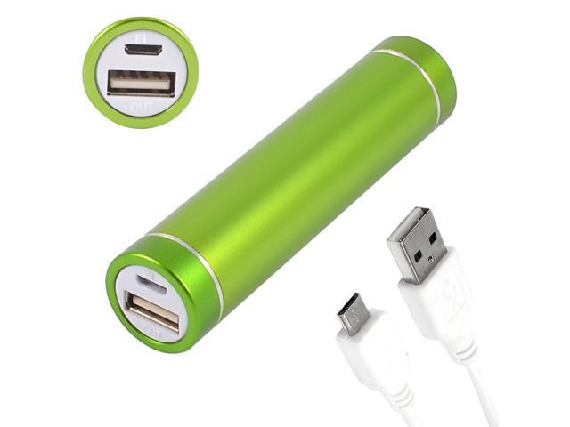2600mAh Cylindrical USB Portable Power Bank External Battery Charger Green