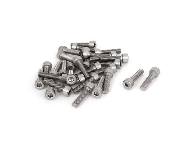 30pcs M5x20mm Stainless Steel Hex Socket Head Cap Screws Bolts 0.8mm Pitch