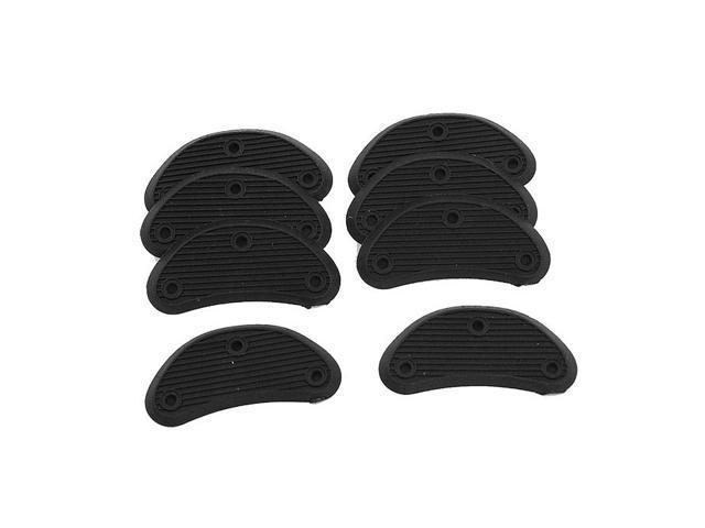 Black Plastic Shoe Heels w Files Repair Kit New for Men