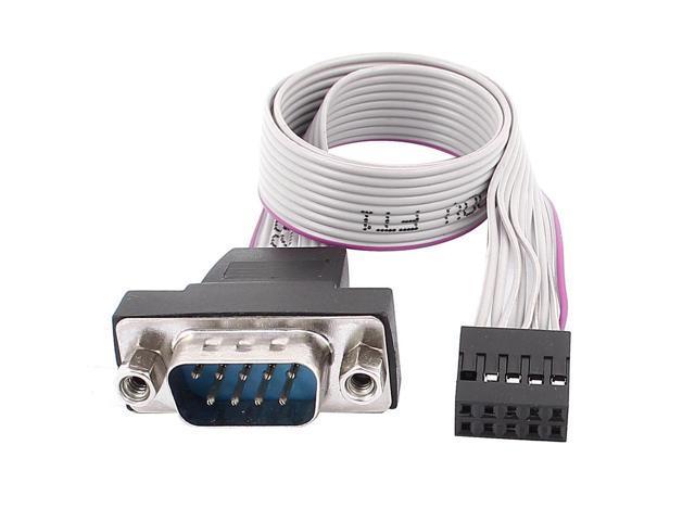 Unique Bargains Rs 232 Serial D Sub Db9 To 9p M F Idc Flat