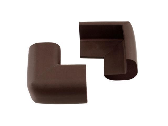 Coffee Color Nonslip Foam Table Desk Corner Guard Pad Protector Cushion 2 Pcs