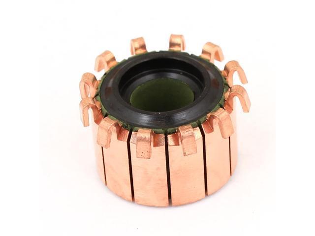 5mm Shaft Dia 15mm Od 10 Teeth Copper Shell Electric Motor
