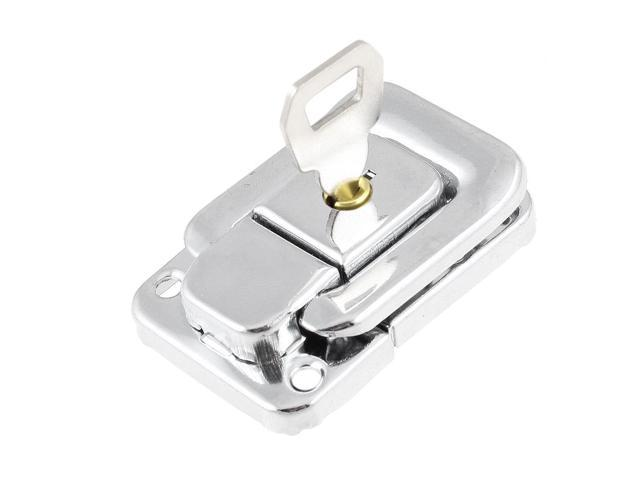Unique Bargains Suitcase Box Truch Metal Toggle Catch Latch Silver Tone 1.9