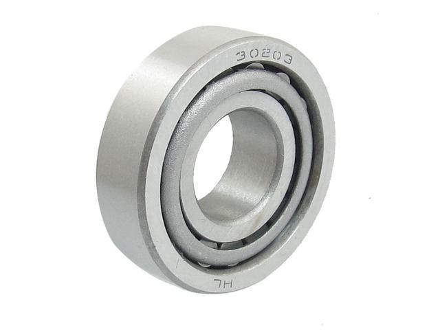 Unique Bargains 30203 17mm x 40mm x 13mm Single Row Taper Tapered Roller Bearing Silver Tone