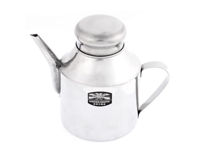 Unique Bargains Kitchen Stainless Steel Lidded Oil Vinegar Sauce Dispenser Pot Cruet 24oz