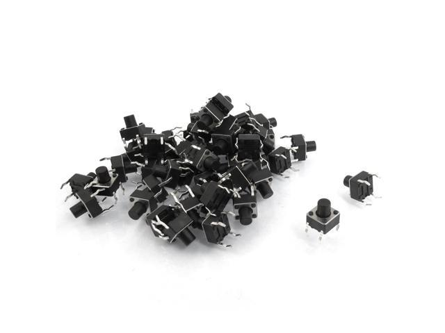 50 Pcs Tactile Push Button Switch Momentary Tact 4 Pin 6x6x7mm