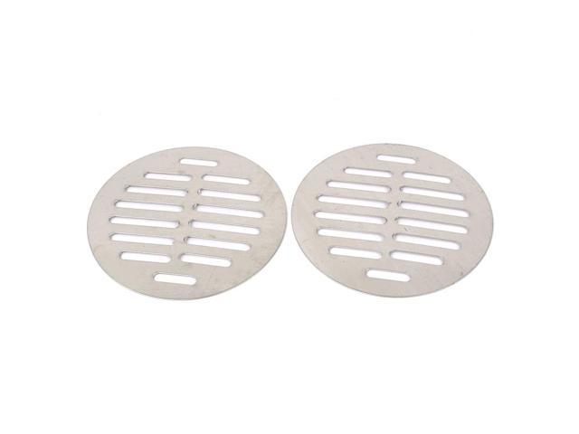 Unique Bargains Stainless Steel Round Sink Floor Drain Strainer Cover 4.5 Inch Dia 2pcs