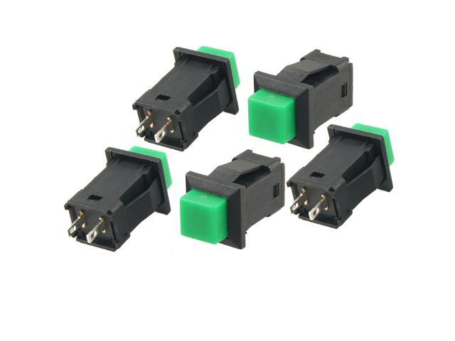 5pcs Green Momentary Square Push Button Switch SPST AC 250V/1A 125V/3A Gbdlg