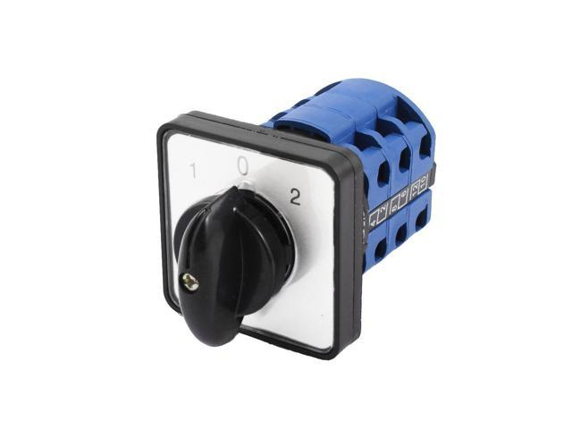 Unique Bargains AC 380V 12A Panel Mount 3 Position Rotary Cam Combination Changeover Switch