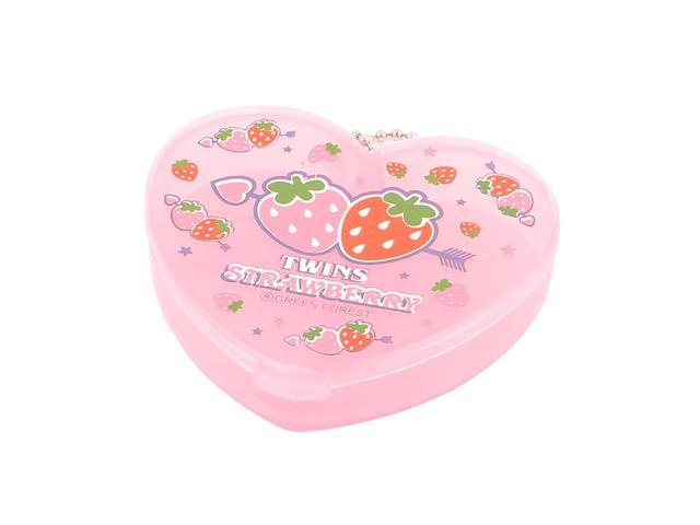 Plastic Heart Shaped Travel Jewelry Organizer Storage Case Box Clear